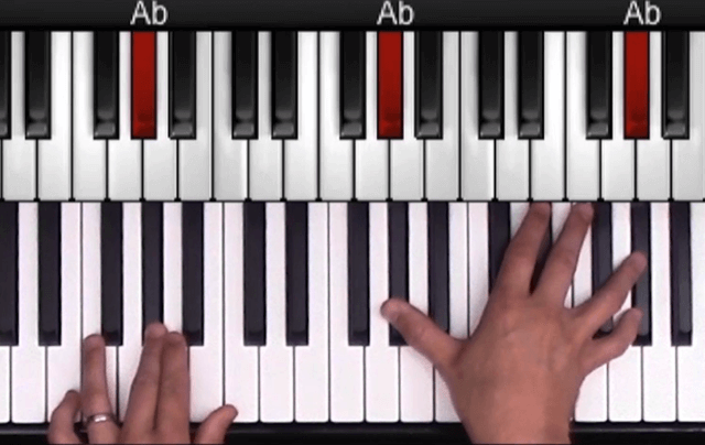 Latin Jazz Piano Open Chord example 2