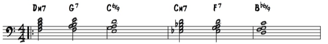 A voicings jazz piano example