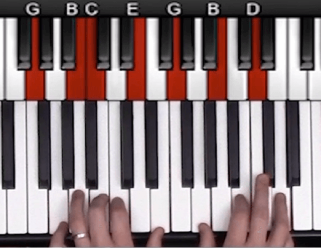 Upper structure jazz piano example