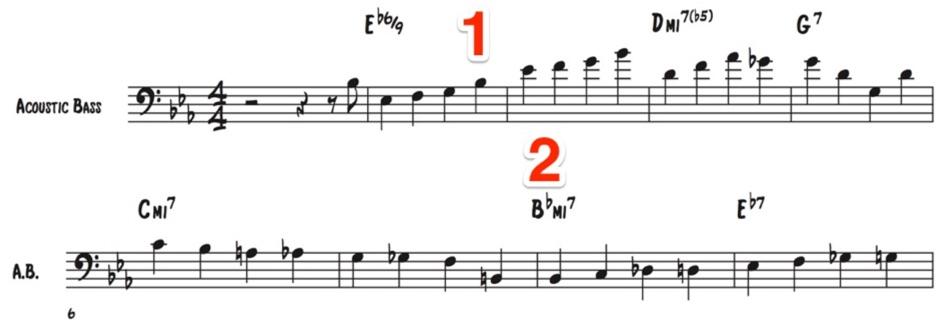 Walking bass examples